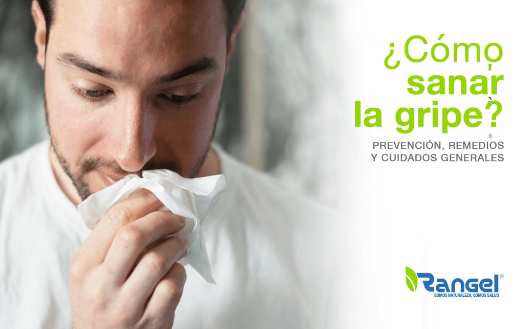 Cómo sanar la gripe, hombre con pañuelo en la boca
